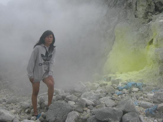 Mount Sibayak: good moment