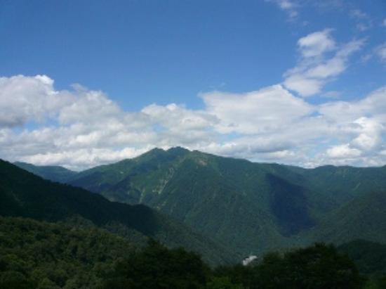 湯沢町, 新潟県, 天神峠からの眺めは雄大