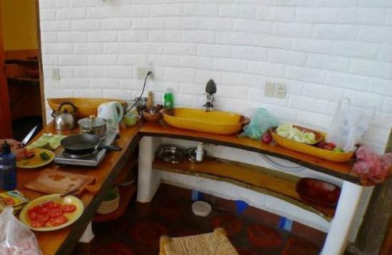 Las Olas: kitchen inside the room