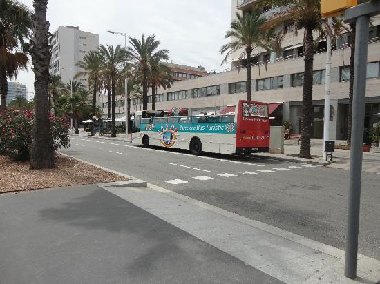 Hesperia Del Mar: Fermata dell'autobus e del bus panoramico