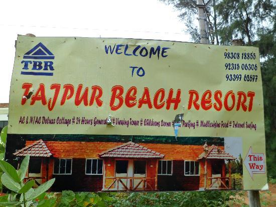 Hoarding of Tajpur Beach Resort