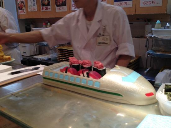 Umegaoka Sushi No Midori Sohonten Shibuya: Sushi for kids