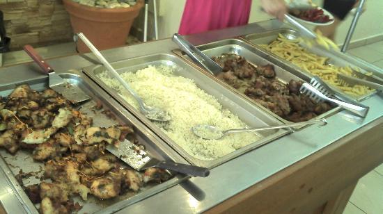 Tsilivi Admiral Hotel: Le diner, le même 1 jour sur deux