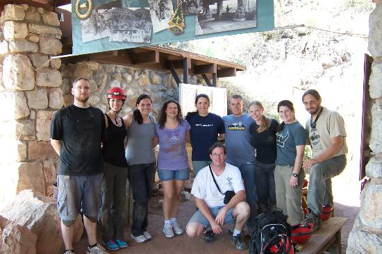 Colossal Cave Mountain Park: our group that did the Ladder/Wild tour 8/18/2012