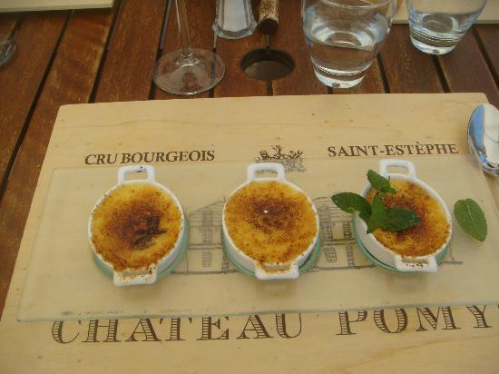 Chateau Pomys: les crèmes brulées