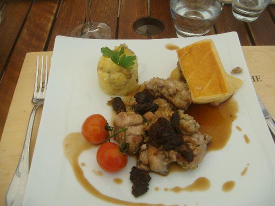 Chateau Pomys: le ris de veau au morilles