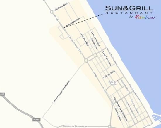 Sun & Grill Restaurant Bissú: Plano de acceso