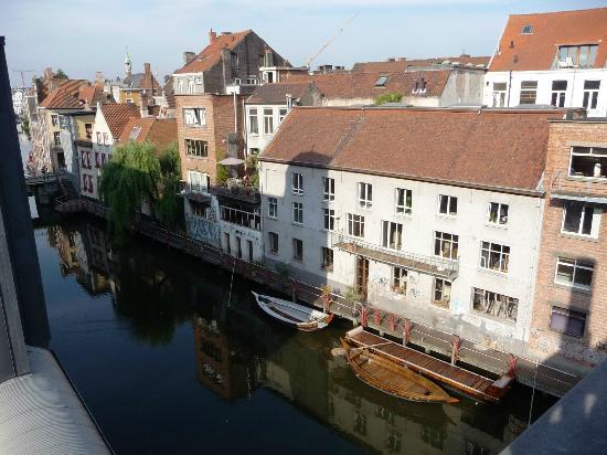 Ghent River Hotel: Aussicht von der Frühstücksterasse