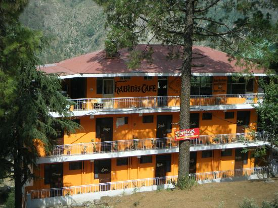 Sidharth House: looking at the front of the guest house