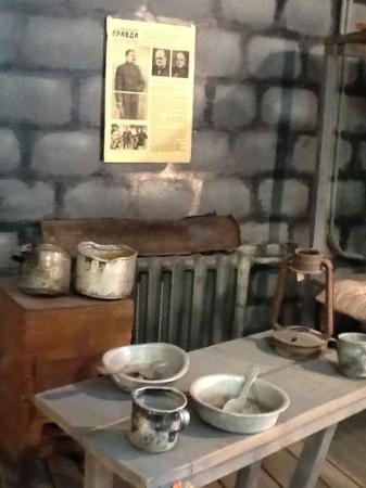 Pevek, Rússia: second store features room of Gulag builders