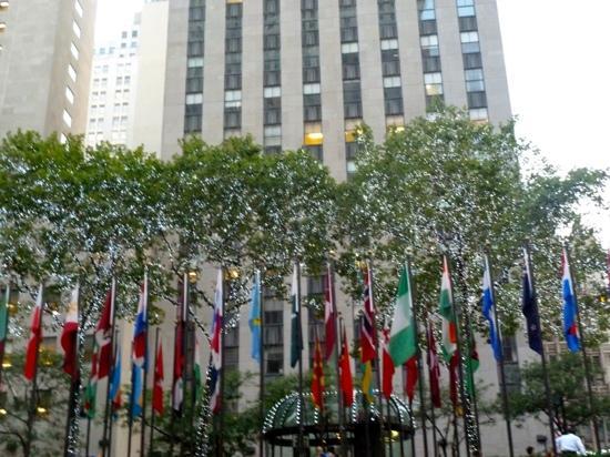 Rink Bar Rockefeller Center: beautiful setting