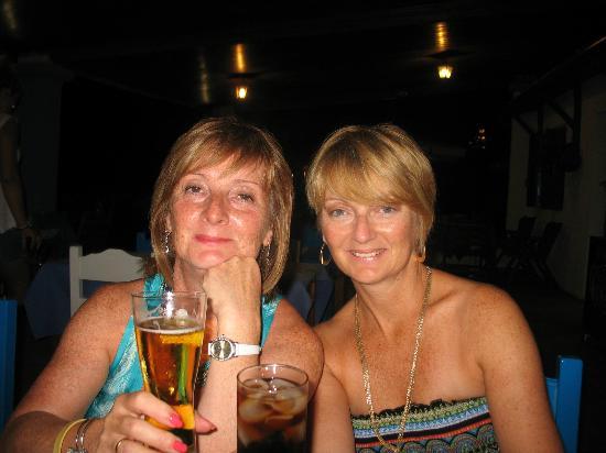 Elena's Taverna: enjoying a drink