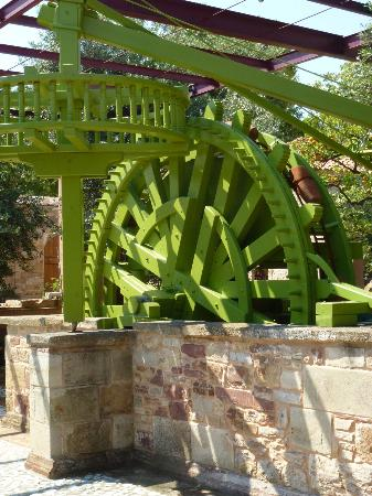 Archontiko Riziko: The water wheel that provided irrigation to the orange grove has been restored