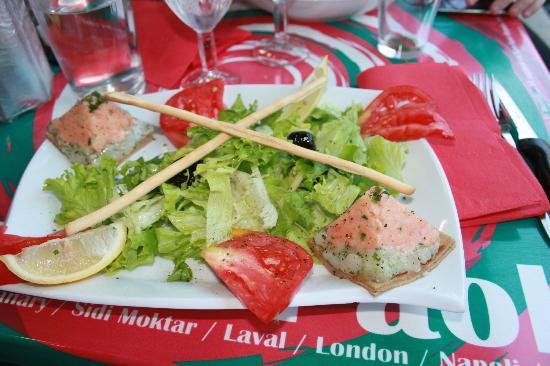 Casa di Paolo : tartare de saumon
