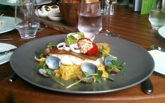 The Secret Garden: Beautifully presented cod dish