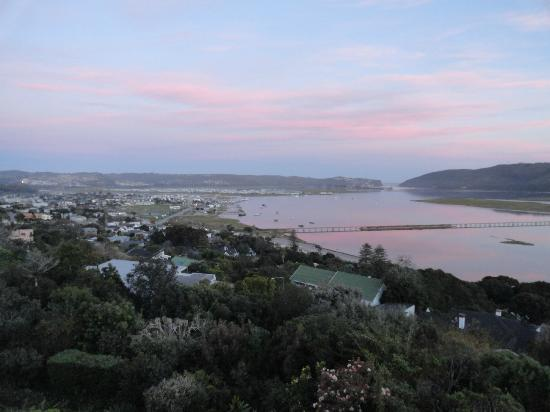 Paradise Found: First view of the Knysna Lagoon on arrival at Sunset