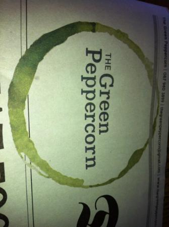 The Green Peppercorn: menu