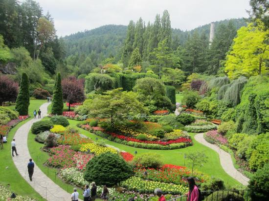 Butchart Gardens: Vista parcial del jardín