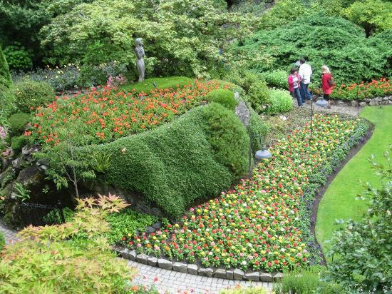 The Butchart Gardens: Vista parcial del jardín