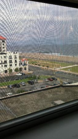 Berkeley Oceanfront Hotel: view of yje beach from my window on the 7th floor