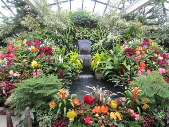 Butchart Gardens: Hermosa fuente con agua y flores