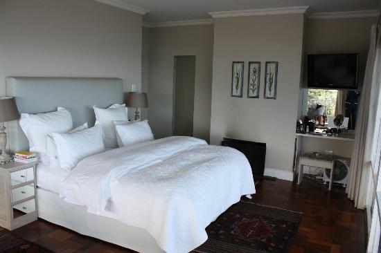 Hermanus Beach Villa: Номер и камин