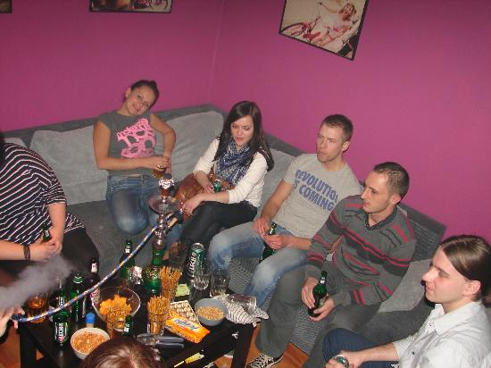 party in Friends Hostel common room