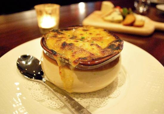 French Onion Soup at Madison Bistro in NYC