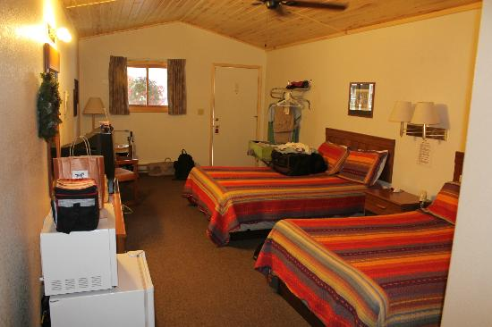 Creede Snowshoe Lodge : View from the other end of the room.