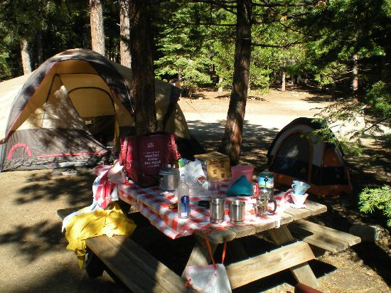 Camp Richardson Resort: campsite sizes are good