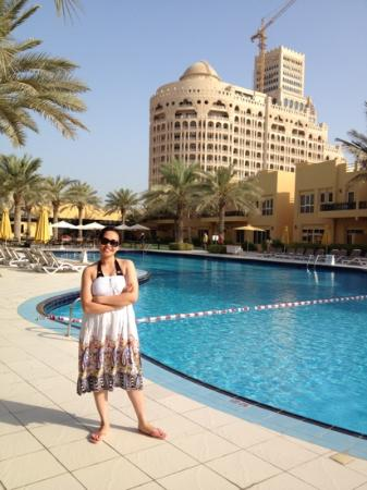 Al Hamra Residence & Village: My 1st morning in Ras Al Khaima...taken at the pool side w/ the view of Al Hamra Palace...=D