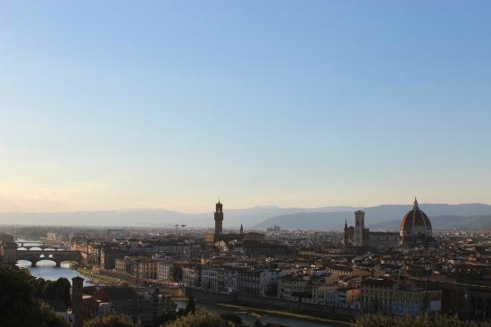 Helvetia & Bristol Hotel: View of Florence from Pizzale Michelangelo