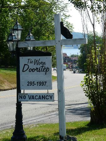 The Worn Doorstep: The sign on the front lawn