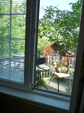 The Worn Doorstep: Private deck