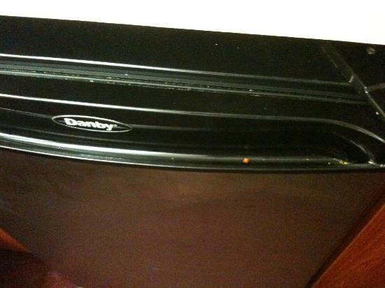 Microtel Inn & Suites by Wyndham Mason/Kings Island: fridge door not wiped down