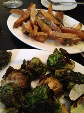 Treva: truffle fries and fried brussels sprouts