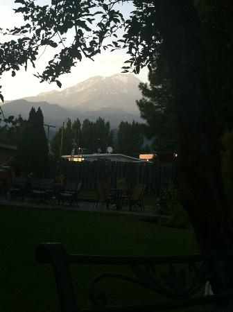McCloud River Lodge : Dinner with a view