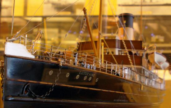 Holyhead Maritime Museum: One of many detailed ship models