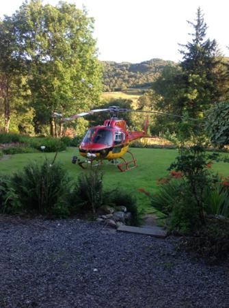 The Brander Lodge Hotel & Bistro: back garden of brander bistro