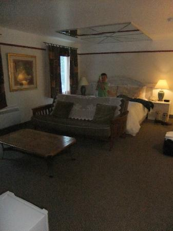 Hotel Bromont: le divan lit et le lit king