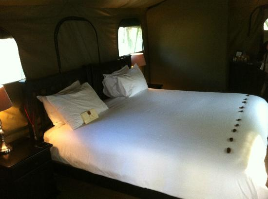 Chisomo Safari Camp: Interior of Chisomo tents