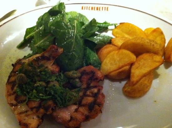 Kitchenette : poulet grille