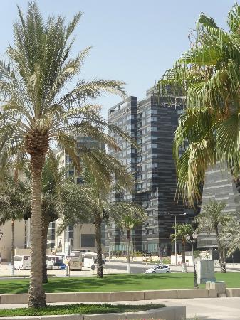 Fraser Suites Doha: Hotel from opposite side of Corniche