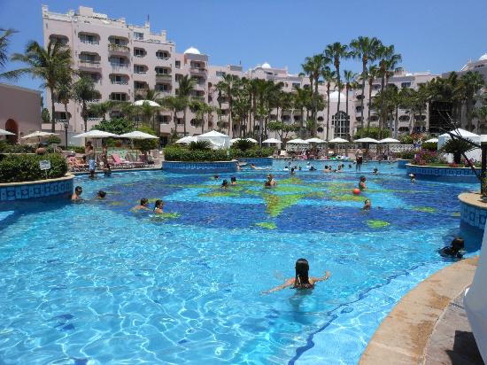 Pueblo Bonito Rose Resort Spa The Main Pool Full Of Kids