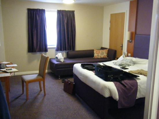 Premier Inn Newton Abbot Hotel: Room 112 and excuse the mess