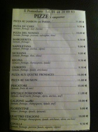 Restaurant Il Pomodoro Paris