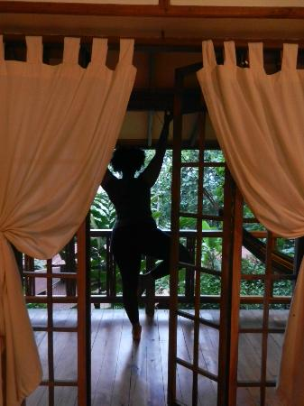 Samasati Retreat & Rainforest Sanctuary: yoga from the balcony