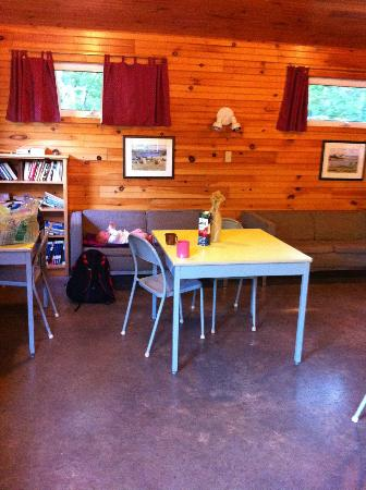 New Glasgow Highlands Campgrounds: Central lodge and shelter