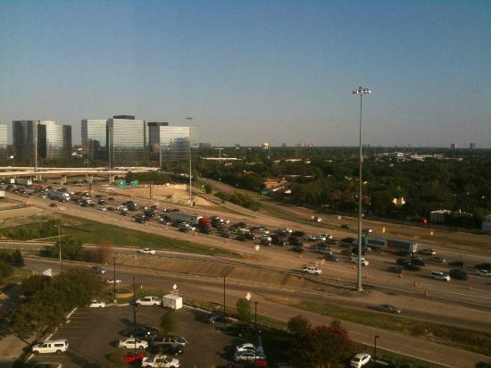 Sheraton Dallas Hotel by the Galleria: View of I-635 from the 12th floor
