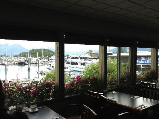 THC Off The Hook Bar and Grill: from inside the dinning room